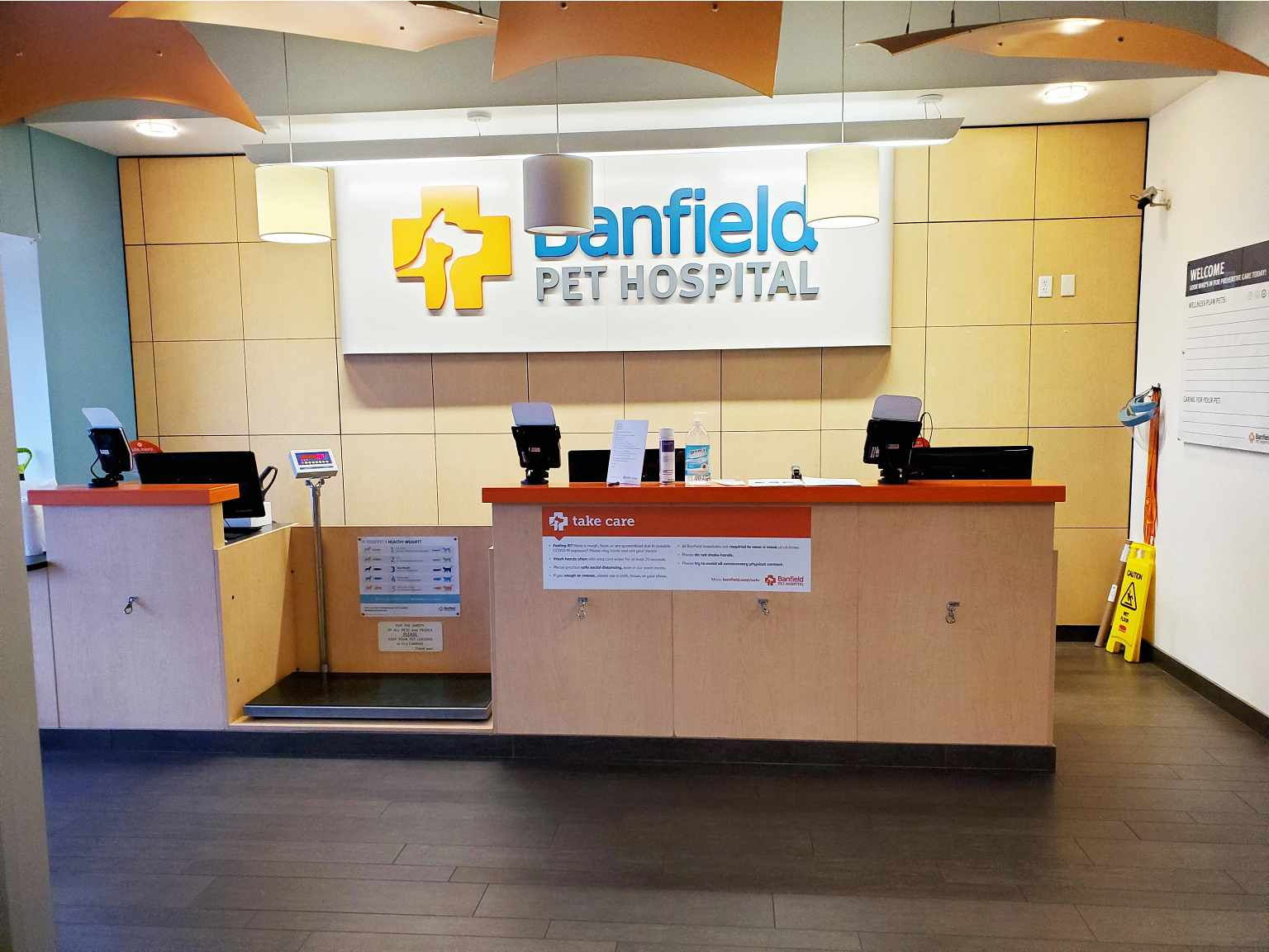 The front desk of the Banfield Pet Hospital