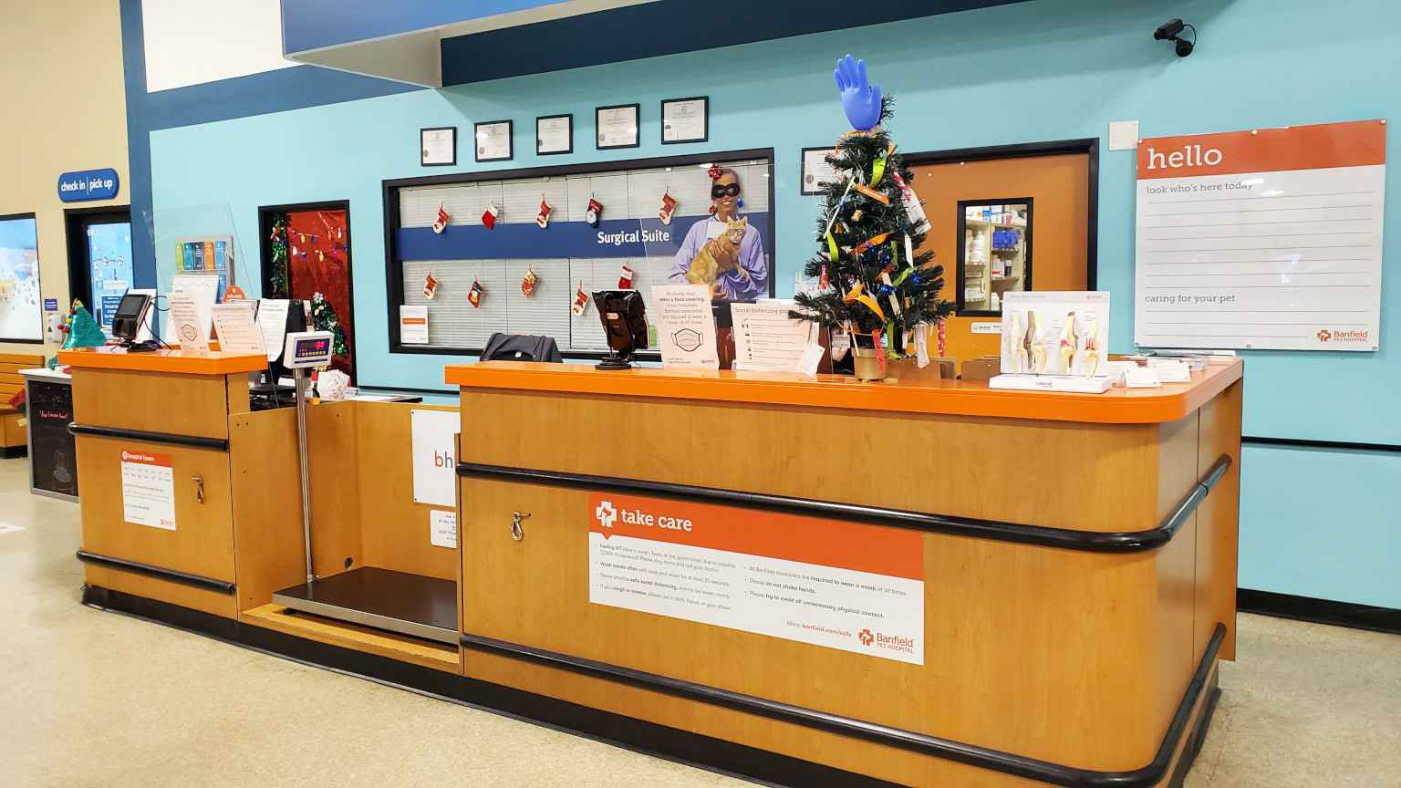 The front desk of the Banfield Pet Hospital, Myrtle Beach, SC