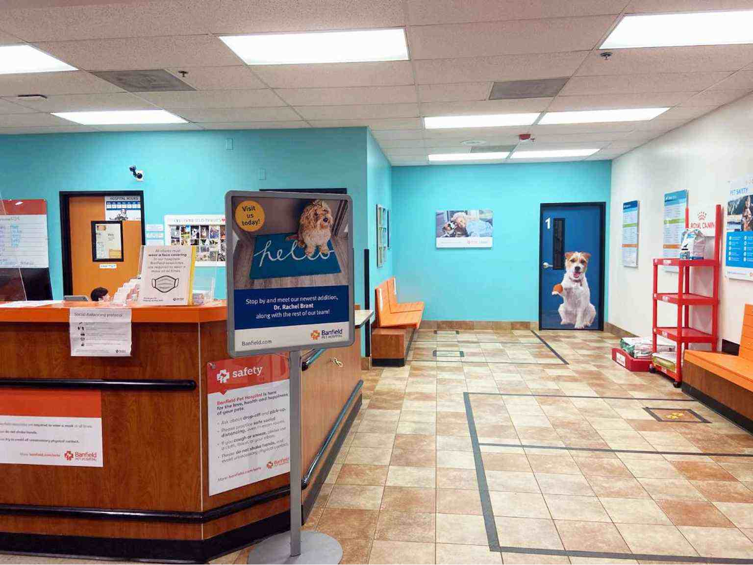 The lobby of the Banfield Pet Hospital, Rock Hill, SC